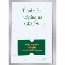 Floral Seed Paper Card w/ Magnet