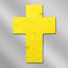 Floral Seed Paper Pop Out Post Card - Religious Cross