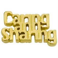 Caring is Sharing Cut Out Cast Stock Jewelry Pin