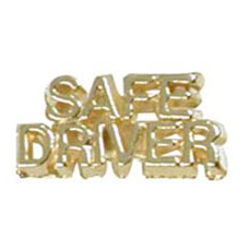 Safe Driver Cut Out Cast Stock Jewelry Pin