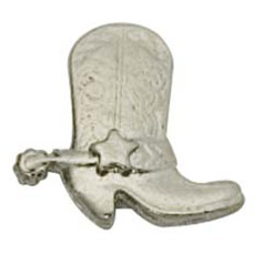 Western Boot w/ Spur Cast Stock Jewelry Pin