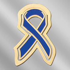 Child Abuse Awareness Ribbon Bookmark