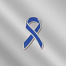 AW-PIN-SE-1-DARK_BLUE - Child Abuse / Colon Cancer Awareness Ribbon Lapel Pin
