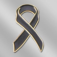 AW-PIN-SE-1-BLACK - Deceased Ribbon Lapel Pin