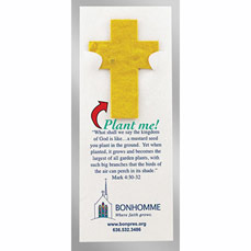 Cross Floral Seed Paper Pop-Out Bookmark