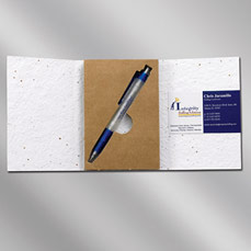 Floral Seed Paper Gift Card w/ Enviro Pen