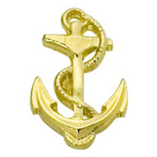 Anchor Cast Stock Jewelry Pin