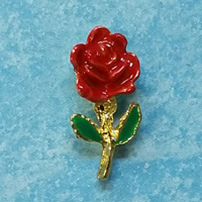 Rose Cast Stock Jewelry Pin