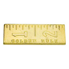 Ruler Cast Stock Jewelry Pin