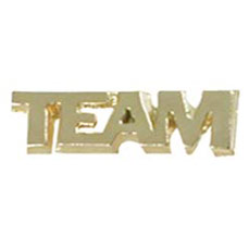Team Cut Out Cast Stock Jewelry Pin
