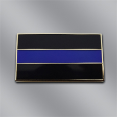 Black and Blue Fallen Officer Lapel Pin