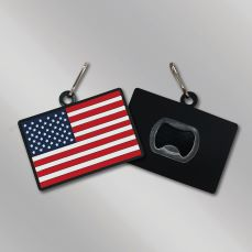 PVC American Flag Bottle Opener